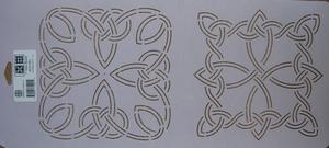Quilt stencil Celtic Block 7  per stuk