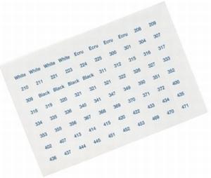 Set van 640 labels voor bobbins DMC  compleet set