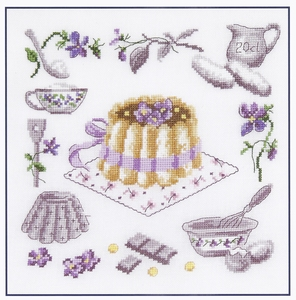 Grote paarse taart (La charlotte a la violette)  compleet set