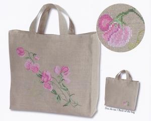 Tas Lathyrus (Sweet peas tote bag)  compleet set