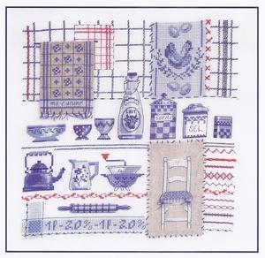 De blauwe keuken My blue kitchen  compleet set