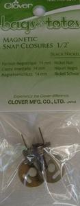 Magneetsluiting Clover donker nikkel  per stuk