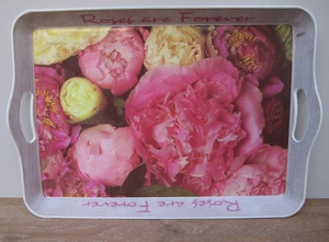 Dienblad rozen  per stuk