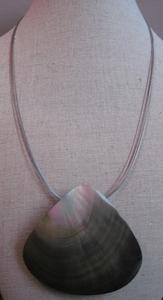 Hanger schelp driehoek (nikkelvrij 5-draads)  per stuk