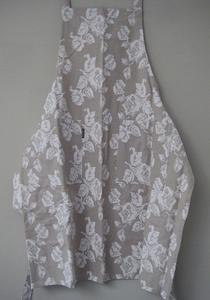 Schort linnen met rozen  per stuk