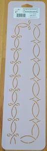 Quilt stencil  2 randen 1 inch  per stuk