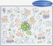 Alfabet schaapjes (abécédaire petit moutons) DMC compleet set