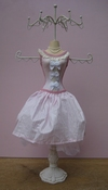 Bijoux Mannequin roze/wit per stuk