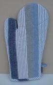 Ovenwant blauw linnen streep per stuk