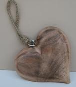 Hart hout naturel klein per stuk