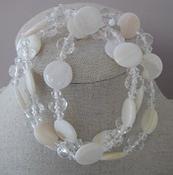 Armband schelpkralen met kristal compleet set