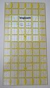 Omnigrid liniaal 6x12 inches met grid lijnen/angles per stuk